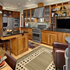 Craftsman Style Kitchen Cabinets Free Standing Pantries Natural Cherry Kitchens | Houzz