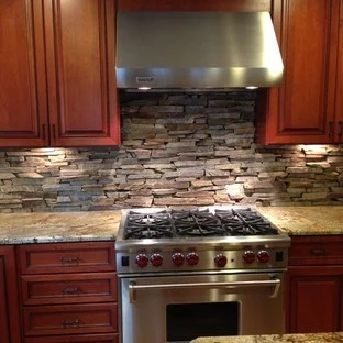 stone kitchen backsplash canisters natural houzz inspiration for an eclectic remodel in dc metro with recessed panel cabinets medium