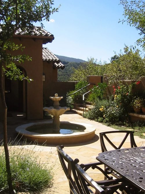 small kitchen remodel cost 5 piece table set best spanish courtyard design ideas & pictures | houzz