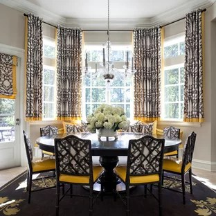 bay window curtain ideas living room contemporary formal design and photos houzz this is an example of a large traditional kitchen dining in little rock with