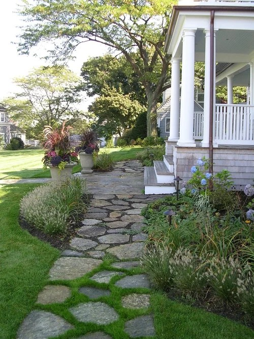beach style front yard landscaping