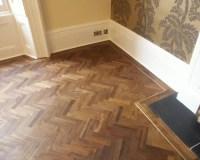 Living Room: Teak Herringbone Floor