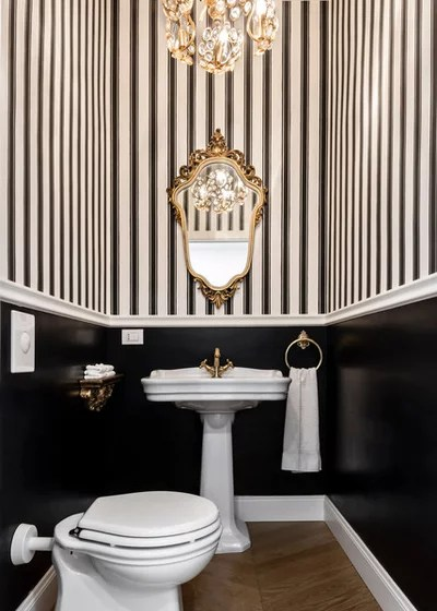 Traditional Powder Room by Livin'