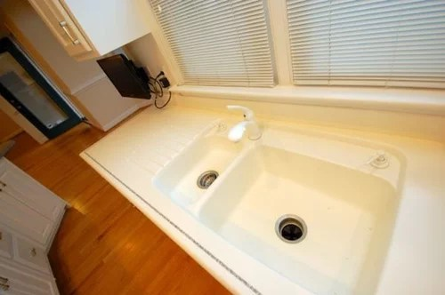 corian sink cracked repair replace