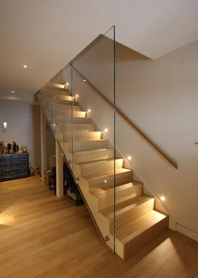 Contemporáneo Escalera by IQ Glass UK