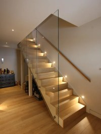 Contemporary Straight Staircase Design Ideas, Renovations ...