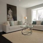 semi circle sofa for bay window sam moore construction real estate - contemporary living room vancouver by ...