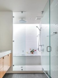 Small Rain Shower Sunken Tub Combo