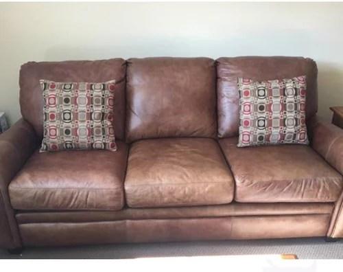 used leather sofa set