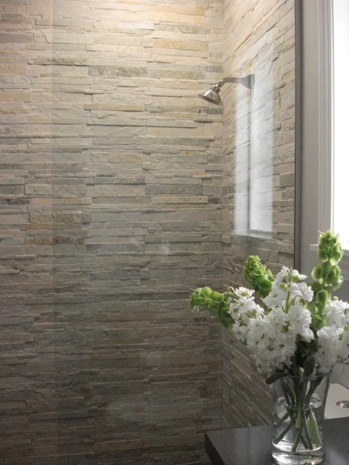 Stacked Stone Tile Home Design Ideas Pictures Remodel