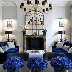 Blue Furniture Living Room Curtains For With Yellow Walls How To Combine And Gray In Your Eclectic By Penman Interiors