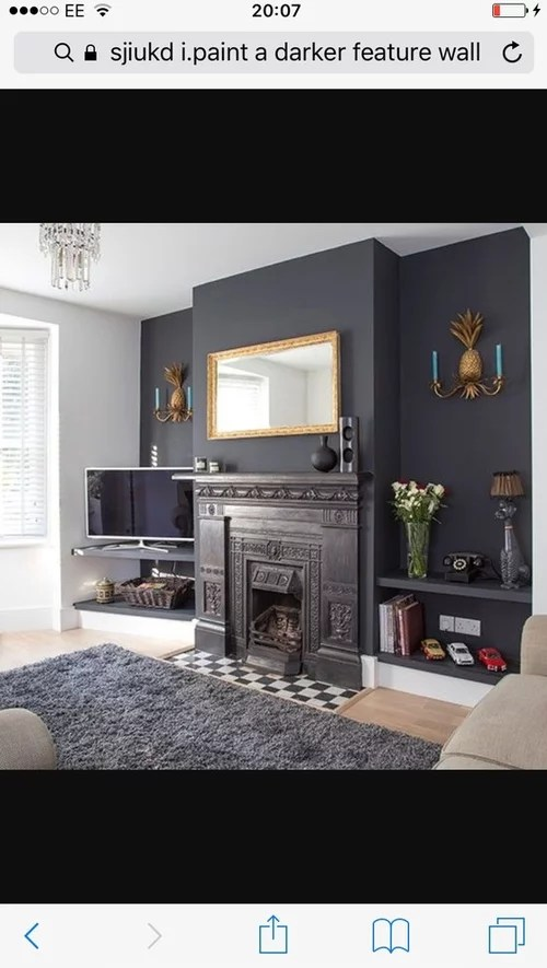 living rooms with dark grey feature walls chairs for less room wall just looking any ideas suggestions
