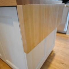 Butcher Block Kitchen Island Cart Chrome Table Flip Up Countertop   Houzz