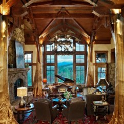 Log Cabin Living Rooms Ideas Ikea Tables Room Best Rustic Great Design & Remodel Pictures | Houzz