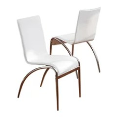 Houzz Dining Chairs Contemporary Kids Computer Chair 50 Most Popular Room For 2019 Gdfstudio Aude White Modern Set Of 2