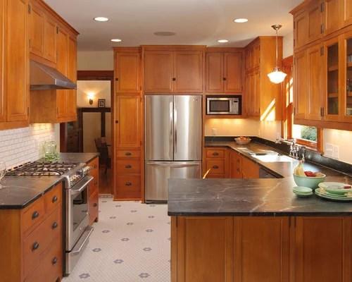 retro kitchen tile backsplash american standard quince faucet bungalow   houzz