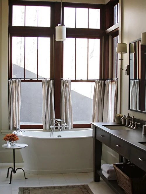 Best Linen Cafe Curtains Design Ideas & Remodel Pictures Houzz