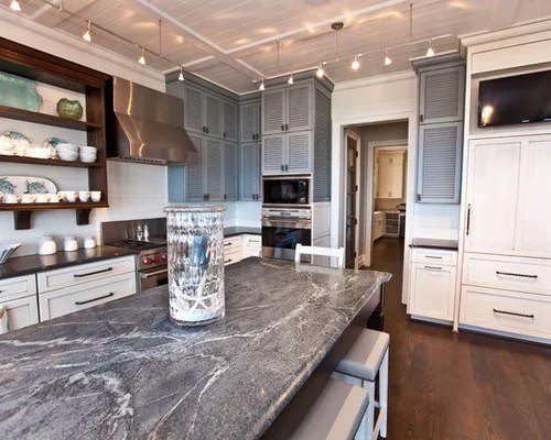 blue kitchen sink stand alone pantry soapstone countertops | houzz