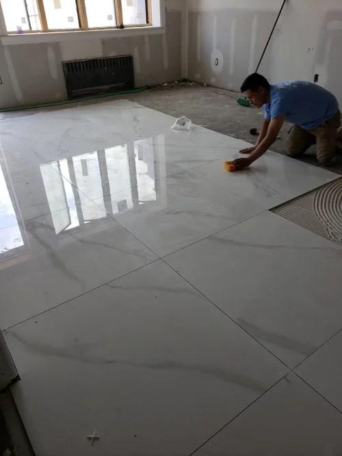 do porcelain tiles change colors help