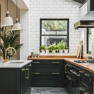 green kitchen cabinets set for girls 75 most popular with design ideas 2019 traditional open concept inspiration elegant l shaped cement tile floor and gray