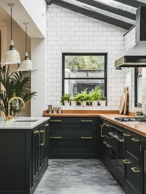 Green Kitchen Cabinets Houzz