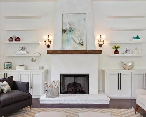 Image Result For Spanish Style Large White Stucco Fireplace Stucco Fireplace | Houzz