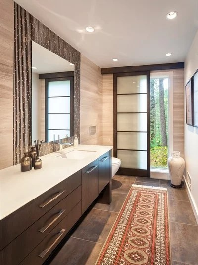 Contemporary Powder Room by Lee Kimball