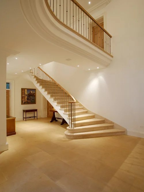 remodeling open kitchen living room designs com indoor wide bottom staircases home design ideas, pictures ...