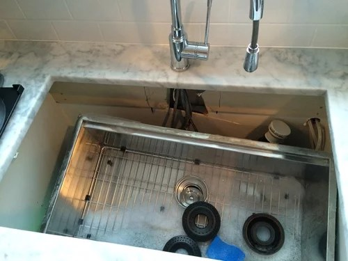 under mount sink disaster what would