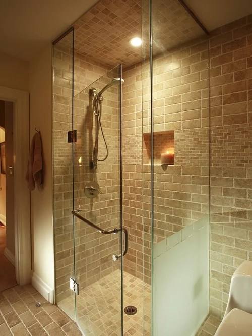Brick Shower Home Design Ideas Pictures Remodel and Decor