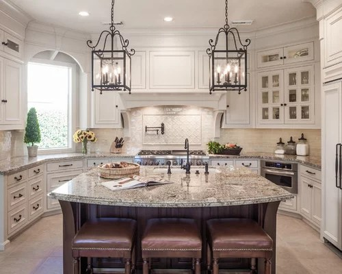 kitchen remodel houston cabinet spacing sienna beige granite | houzz