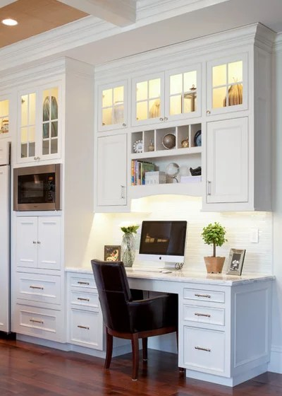 kitchen desk chair space savers 8 and nook designs to keep your family organized traditional home office by bsa construction development