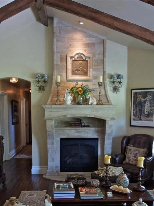 rustic wood kitchen table and chairs chair arm french country fireplace | houzz