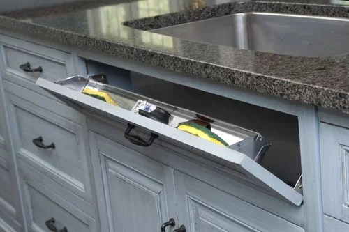 kitchen sink tilt drawer for sponges