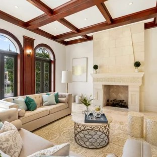 home interior ideas for living room small decor modern 75 most popular space design 2019 stylish example of a tuscan beige floor in miami with white walls and