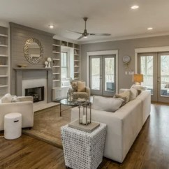 Living Room Decor With Grey Walls Chest Cream Ideas And Photos Houzz Inspiration For A Medium Sized Classic Formal Open Plan In Nashville