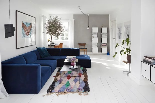 Eine Farbkombi  6 Styles Wohnzimmer in Blau Grau und Wei