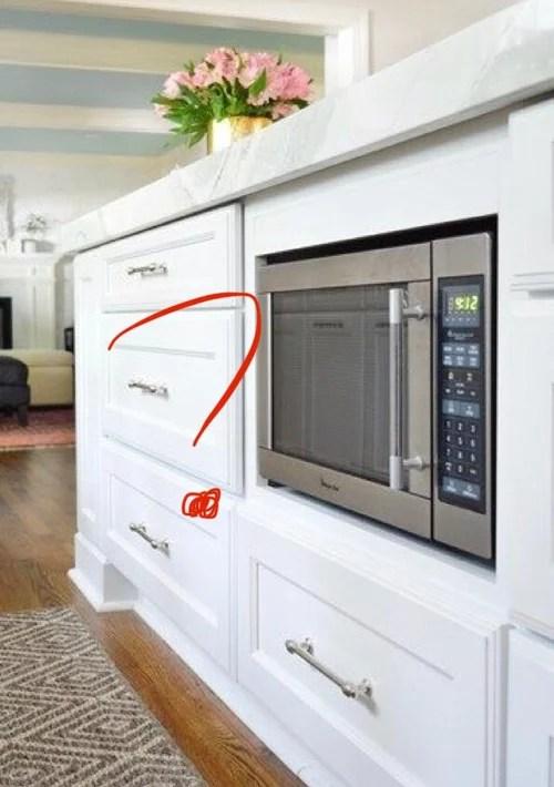 microwave drawer below counter