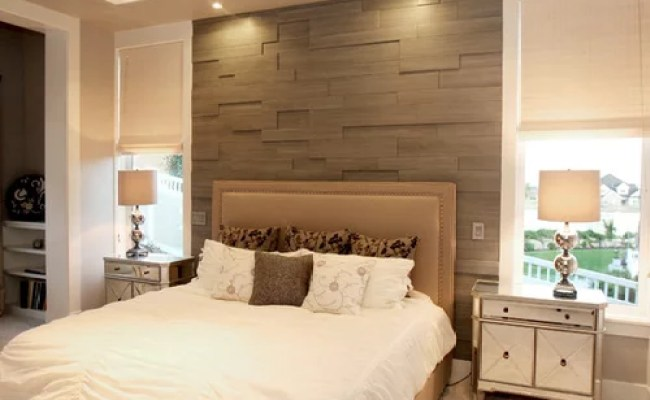 Wood Wall Behind Bed Houzz