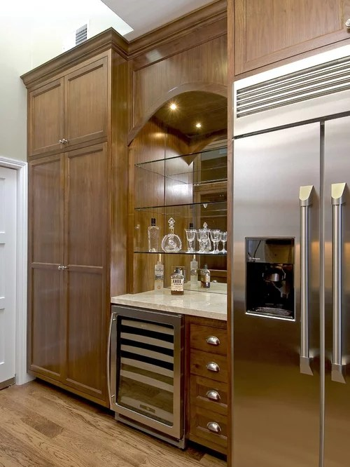 stainless steel kitchen cabinets recessed lights in dry bar | houzz