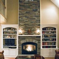 Kitchen Miami Magazines Faux Stone Fireplace | Houzz