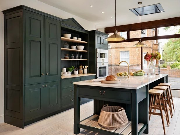 When You Want To Go With Deep Dark Green In Your Kitchen