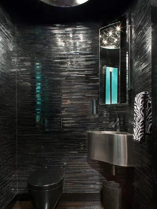 Black Bathroom  Houzz