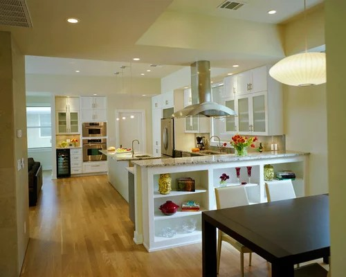 Half Wall Kitchen Houzz