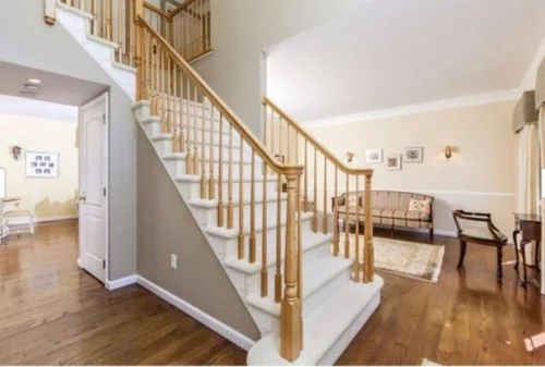 Cost To Stain Paint Stair Railings And Balusters   Cost Of New Banister And Spindles   Chris Loves Julia   Stair Parts   Stair Treads   Paint   Iron Stair