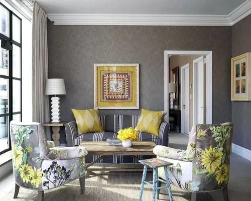 Soggiorno in grigio e giallo  Foto e idee  Houzz