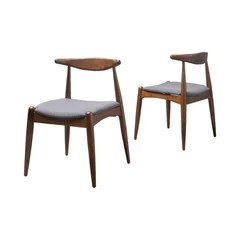 mid century dining chairs batman car chair 50 most popular midcentury modern room for 2019 houzz sandra charcoal walnut set of 2