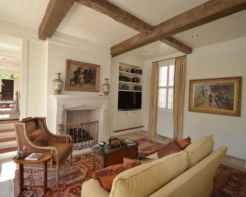 White Painted Ceiling Beams Home Design Ideas, Renovations