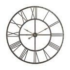 13.5 in. Circular Wooden Wall Clock rooster print