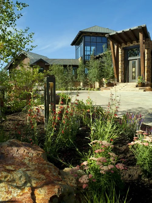 mountain home landscape design